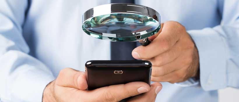 Handy-Überwachungserkennung